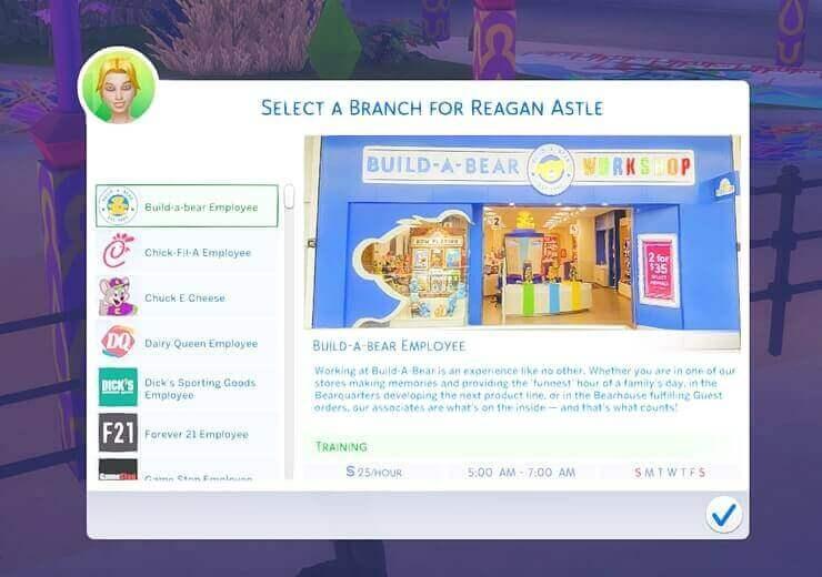 Get a job Sims 4 Mods