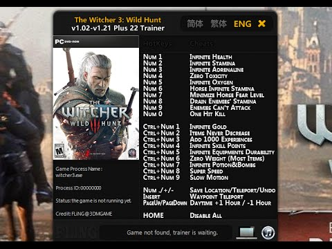 witcher 3 trainer