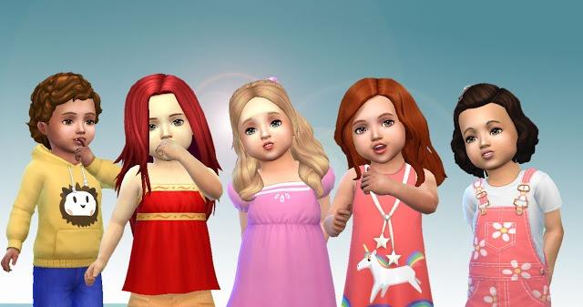 Sims 4 Toddler Hair