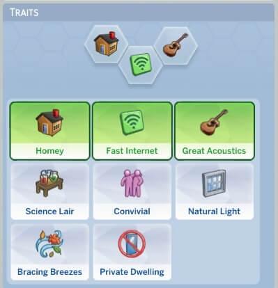 Sims 4 Lot Traits Mod