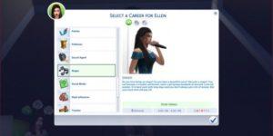 Sims 4 Singer Career