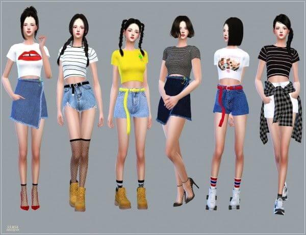 Sims 4 Crop Top Mod