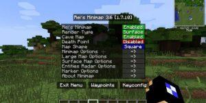 Rei's Minimap Mod Minecraft