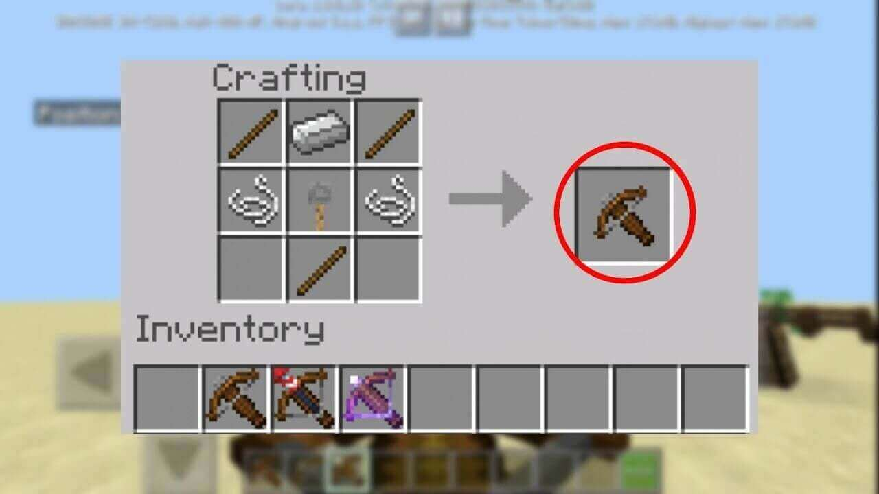 How to Make a Crossbow in Minecraft